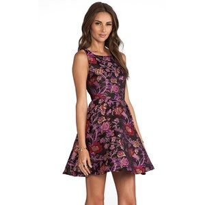 Alice + Olivia Purple Black Cocktail Dress